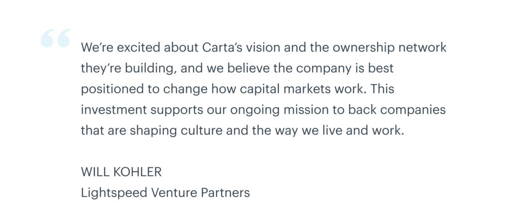 Our Series E and the future of Carta | Carta