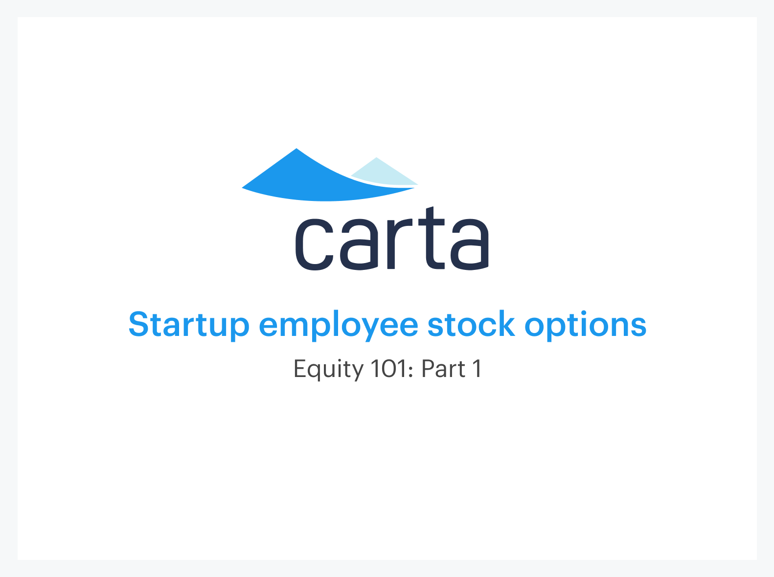 understanding employee stock options||
