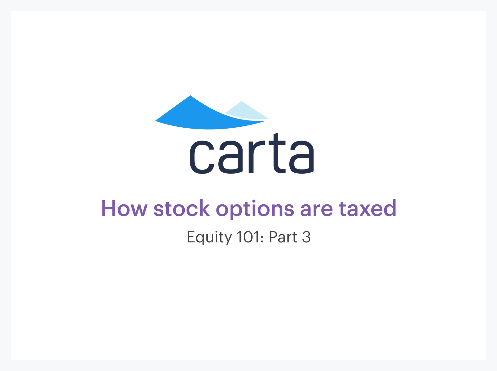 how stock options are taxed||||
