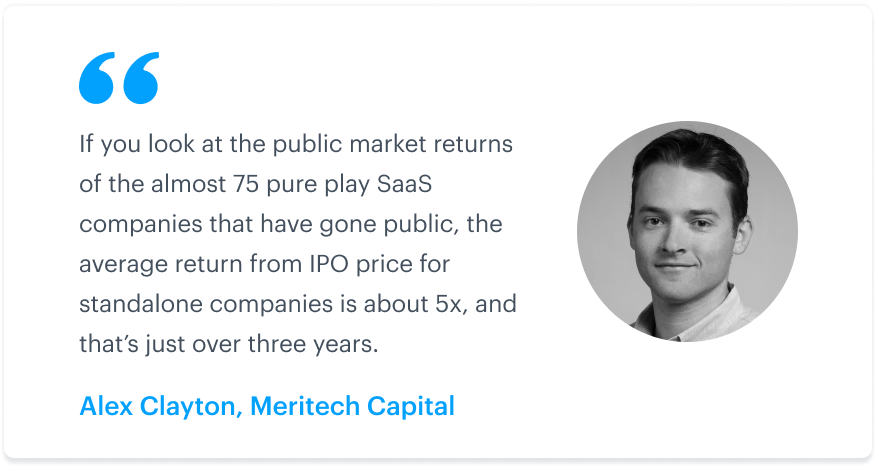SaaS company valuations, metrics, and IPOs: An interview with Alex Clayton of Meritech Capital 5