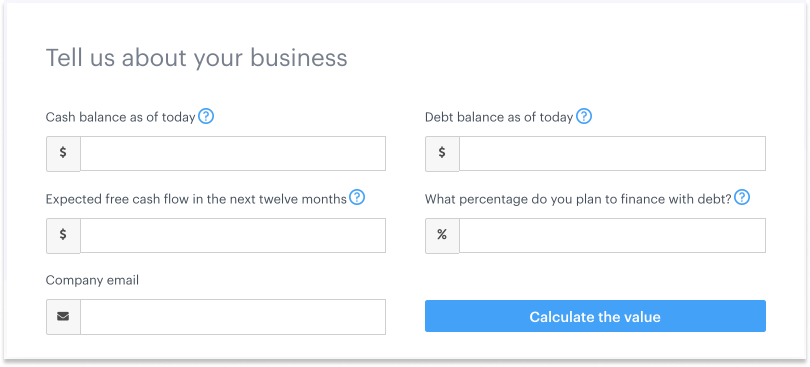 Introducing a business valuation calculator for private companies 1