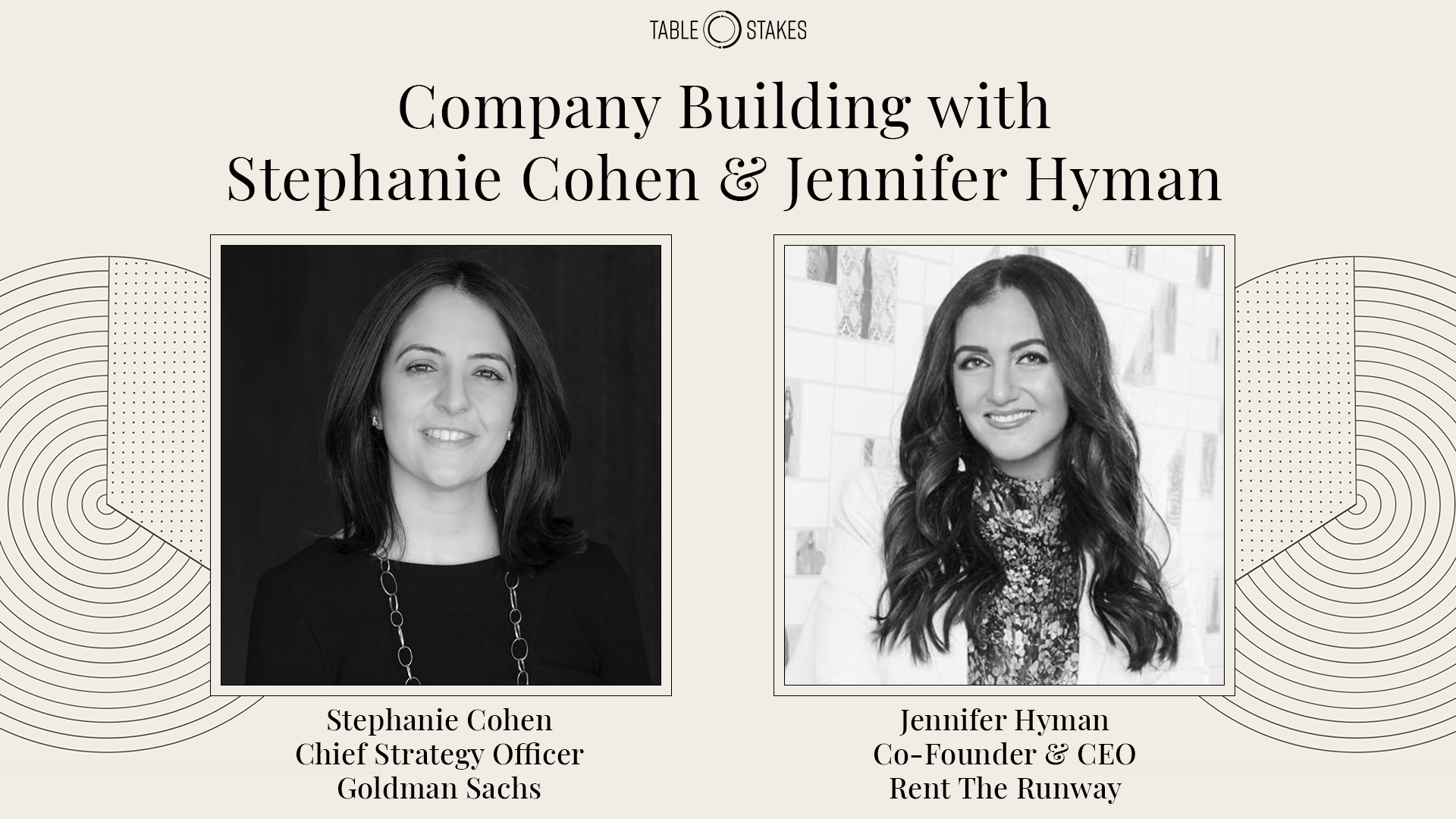Company Building panel - Table Stakes 2020