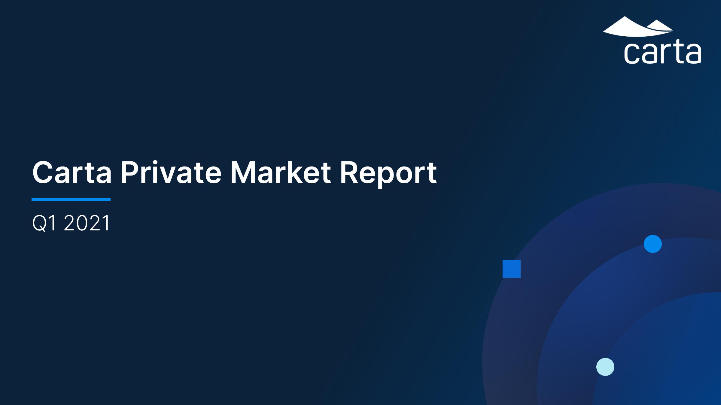 Carta's Private Market Report, Q121
