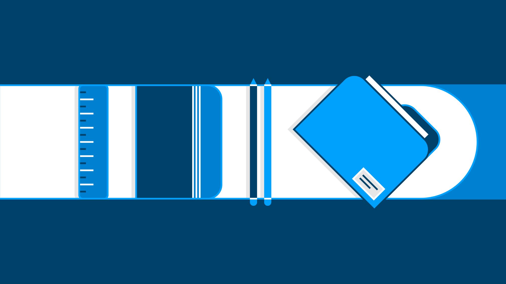 Illustration of paperwork
