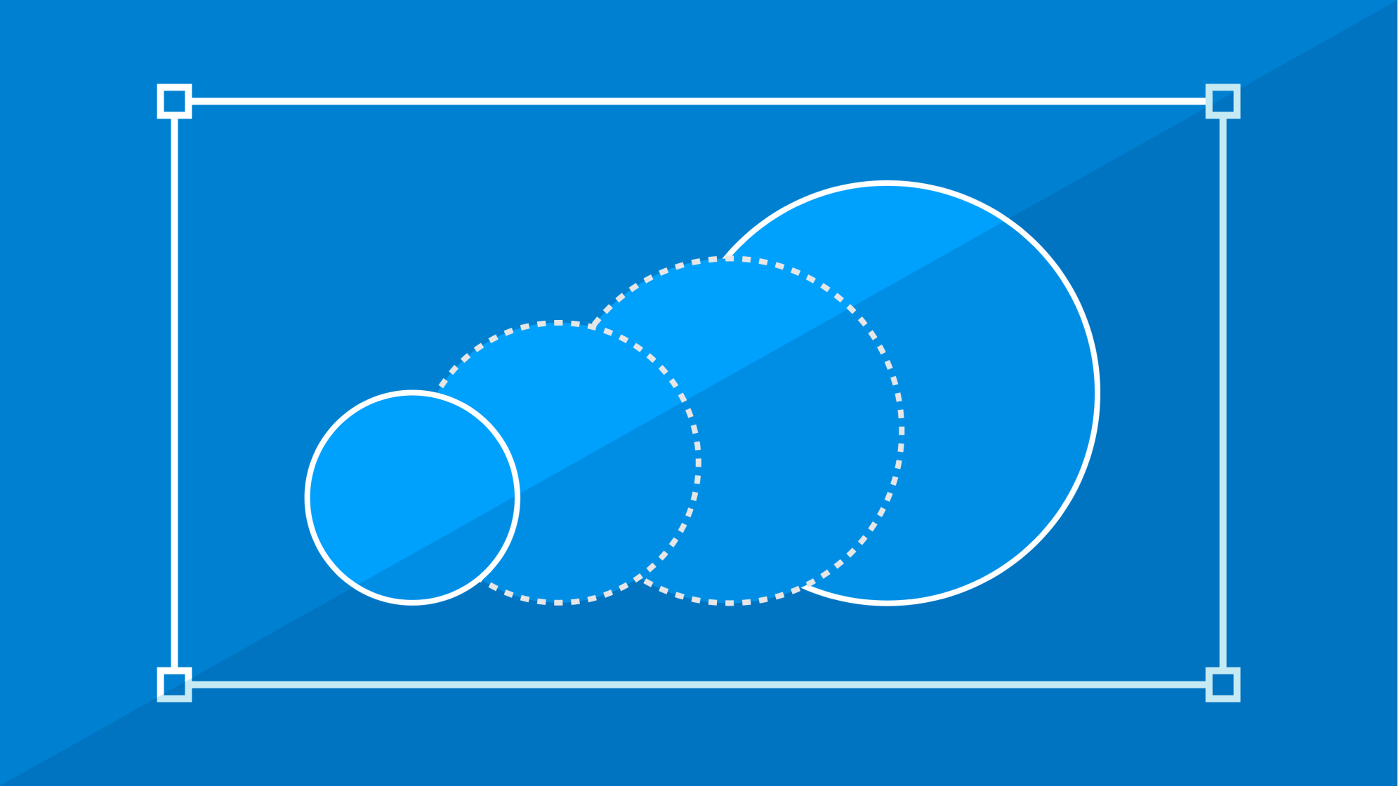 A set of growing circles